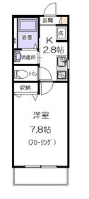 サニーコーポ2階Fの間取り画像