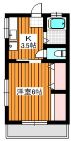 コーポ稲垣1階Fの間取り画像