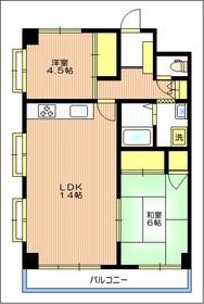 サンライズマンション5階Fの間取り画像