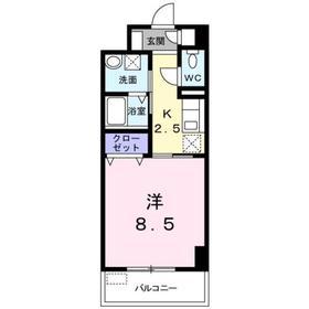 ミルト ブリーゼ S2階Fの間取り画像