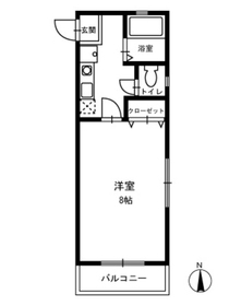 日吉駅 徒歩4分2階Fの間取り画像