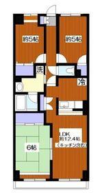 トーア・シティー壱番館1階Fの間取り画像