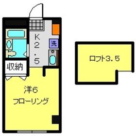 コーポ鶴ヶ峰1階Fの間取り画像