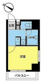 スカイコート日本橋人形町第28階Fの間取り画像