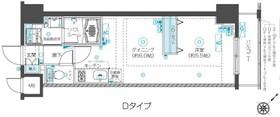 フェニックス新横濱クアトロ11階Fの間取り画像