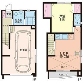 ウッドマンションホープⅡ1-2階Fの間取り画像