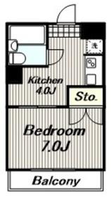 厚木メゾンドパンセ4階Fの間取り画像