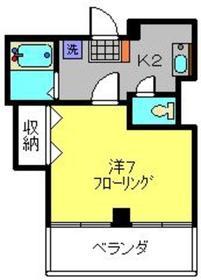 Z西村ビル4階Fの間取り画像