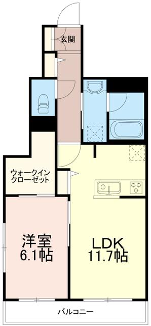 エクラージュ調布ワン(Ecrarge Chofu 1)間取図