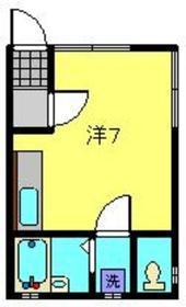山田ハイツ1階Fの間取り画像
