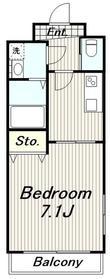 メゾン大塚1階Fの間取り画像