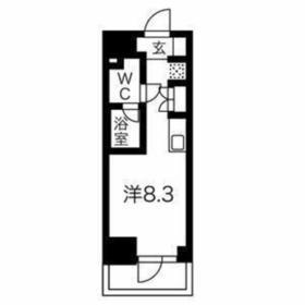 クラリッサ横浜WEST3階Fの間取り画像