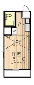 サンフォレスト2階Fの間取り画像