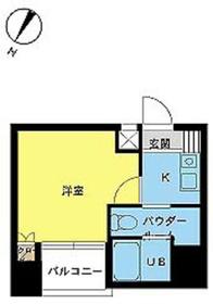 スカイコート日本橋第36階Fの間取り画像