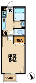 本厚木駅 車13分3.2キロ2階Fの間取り画像