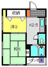 メモリーハイツ3階Fの間取り画像