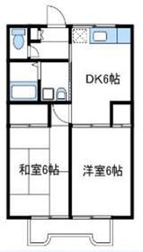 座間駅 徒歩15分2階Fの間取り画像