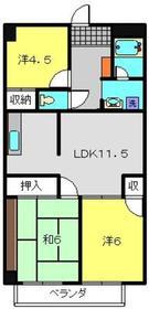 東白楽駅 徒歩19分2階Fの間取り画像