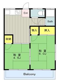 中野島駅 徒歩15分2階Fの間取り画像