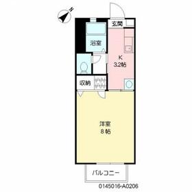 ファレノ2階Fの間取り画像