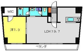 ヒストリアレジデンス海舟6階Fの間取り画像