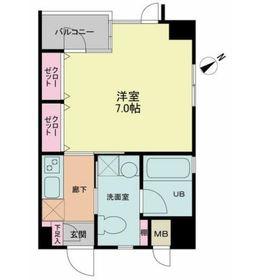 吉祥寺ハウス2階Fの間取り画像