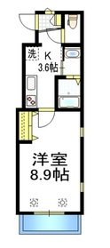 AZURE三宿2階Fの間取り画像