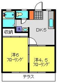 FUJIハイツA1階Fの間取り画像