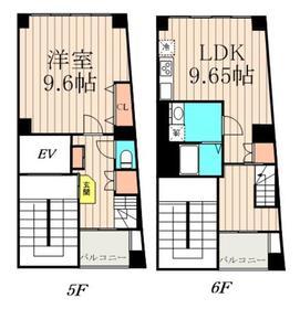 白石ビル5階Fの間取り画像