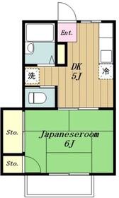 コーポ加藤2階Fの間取り画像