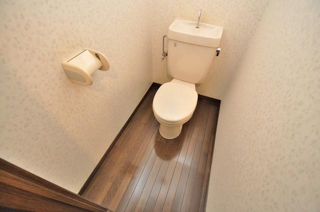 CTビュー永和 スタンダードなトイレは清潔感があって、リラックス出来ます。