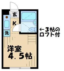 KTコーポラス5階Fの間取り画像