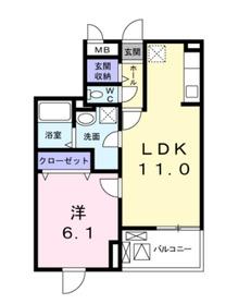 フォレスターナ2階Fの間取り画像