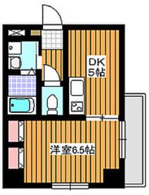 カリプソ4階Fの間取り画像