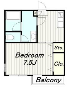 リバーサイドIII2階Fの間取り画像
