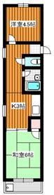 成増駅 徒歩7分4階Fの間取り画像
