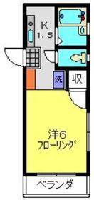 メゾンストリーム1階Fの間取り画像