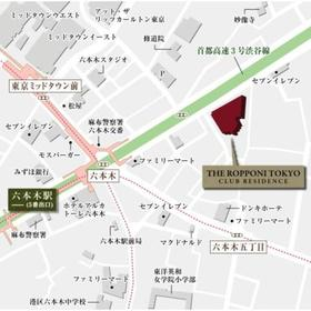 THE ROPPONGI TOKYO CLUB RESIDENCE案内図