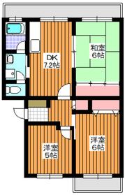 プラザサンタナカ2号館4階Fの間取り画像
