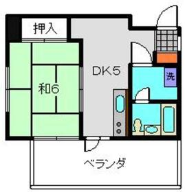 メゾンONE3階Fの間取り画像