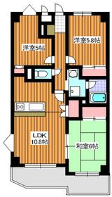 地下鉄成増駅 徒歩11分5階Fの間取り画像
