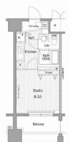 ガーラ・プレシャス横濱関内10階Fの間取り画像