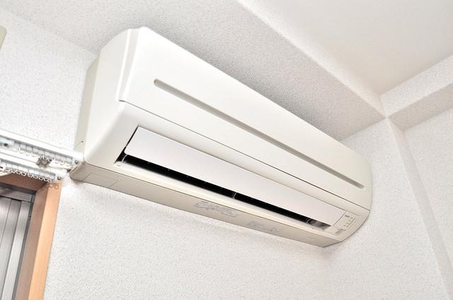 Celeb西上小阪 エアコンが最初からついているなんて、本当に助かりますね。