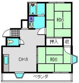 湘南グランドールpart12階Fの間取り画像