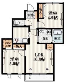 高井戸駅 徒歩8分2階Fの間取り画像