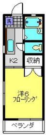 コーポ林2階Fの間取り画像