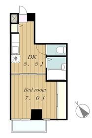 ドエル・イラゴ3階Fの間取り画像