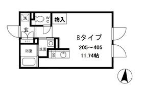 ALERO白山Ⅱ3階Fの間取り画像