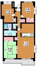 成増駅 徒歩16分6階Fの間取り画像