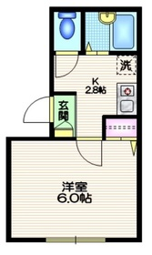 ビオトープ駒沢2階Fの間取り画像